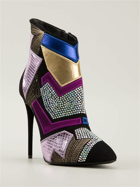 Patchwork Shoes - giuseppe zanotti 115mm patchwork suede ankle boots shoes