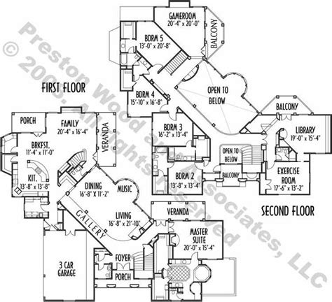2 Story Luxury House Plans by Luxury Two Story Home Plan Ac4169 Floorplans