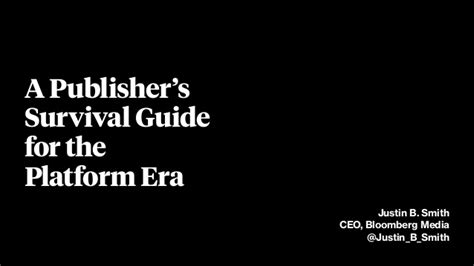 a ceo s survival guide to information technology books a publisher s survival guide for the platform era