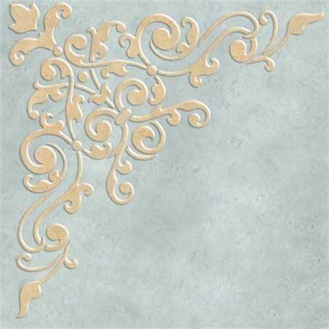Ceiling Stencils Designs by Ceiling Stencils Avignon Corner Ceiling Stencil Royal
