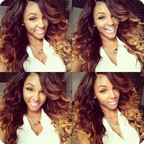 caramel skin color the best ombre hair color match different skin tone
