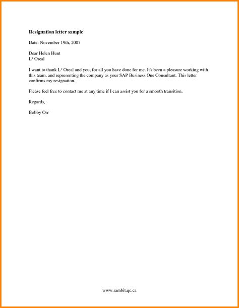 Resignation Letter Sle New Zealand work resignation letter