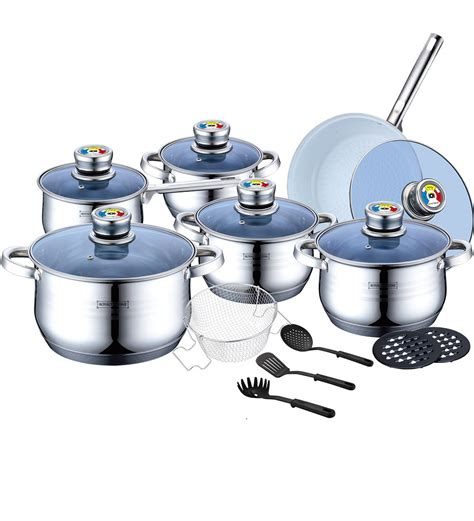 Swiss Koch Kitchen Collection royalty line rl 1801bc stainless steel cookware with