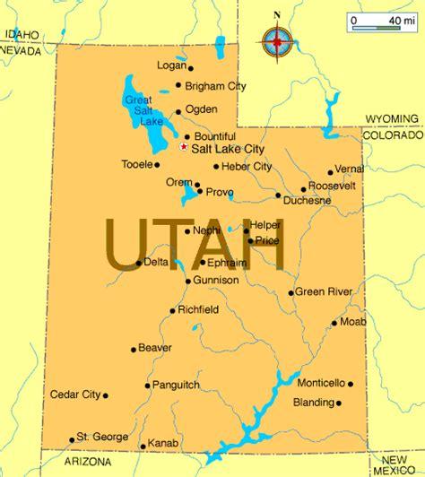 map of utah cities mapa de utah map
