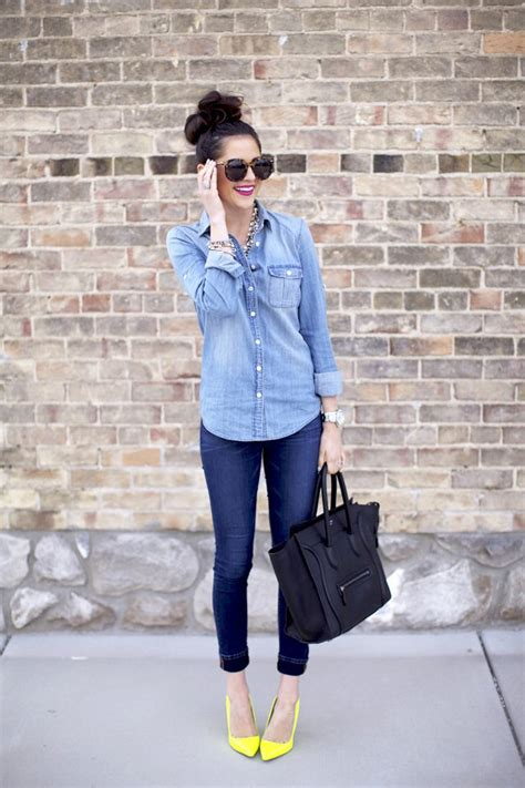 7 Tips To Do The Style On A Budget by Seven Styling Tips To Wear A Denim Shirt