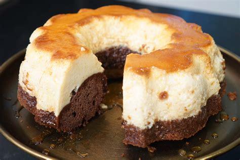 cuisine di騁騁ique recette recette du g 226 teau magique chocolat flan vanille caramel