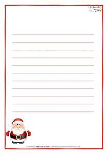 Letter Paper Template by Letter To Santa Claus Paper Template With Lines Santa 16