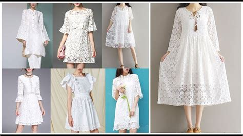 Dress White Pretty casual white dress pretty white lace dresses