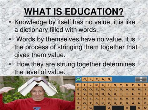 meaning and definition of education