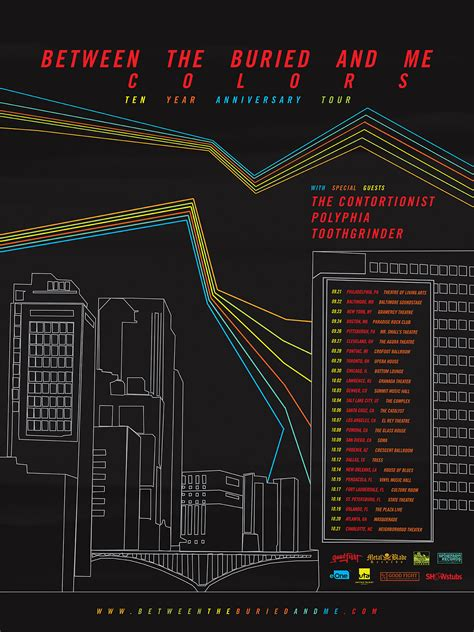 between the buried and me colors between the buried and me colors 10th anniversary tour