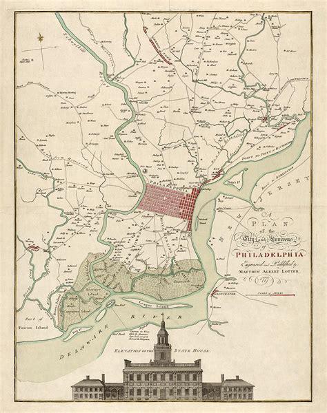 antique map of philadelphia antique map of philadelphia by matthaus albrecht lotter
