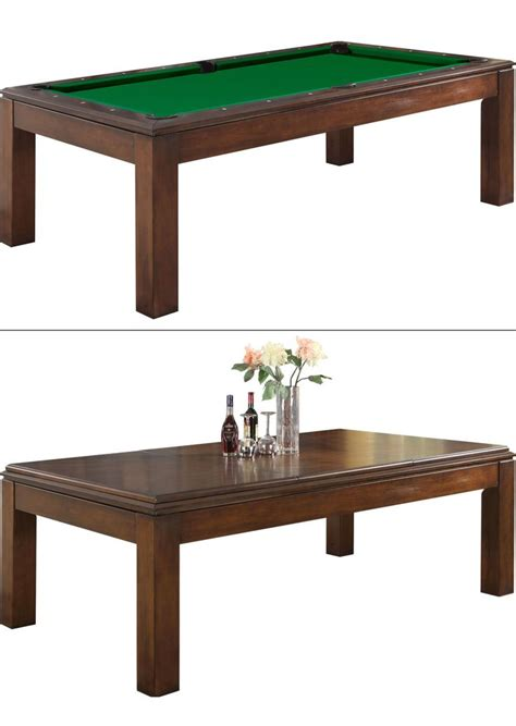dining room table turns into a size pool table great