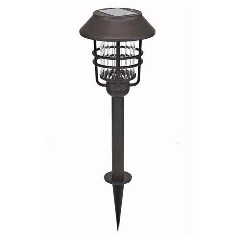 homedepot solar lights hton bay solar rubbed bronze path lights 4 pack