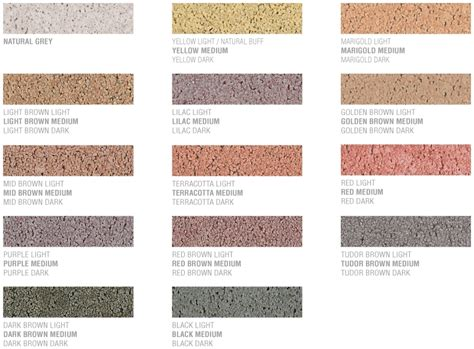 mortar colors cemex mortar colour shade guide cemex uk