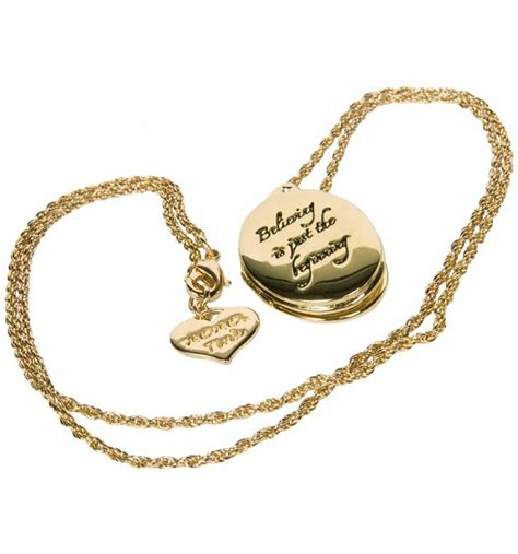 Tinker Bell Believing Is Just The Beginning Bead gold plated believing is just the beginning tinker bell locket from disney couture