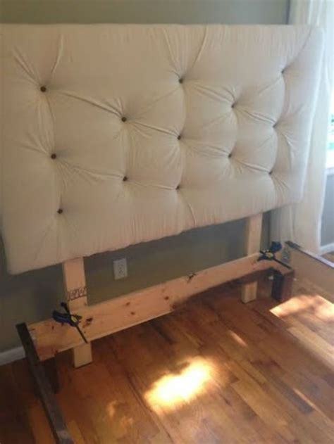 diy upholstered bed frame how to build a diy upholstered headboard diy tutorial