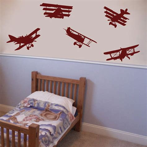aeroplane wall stickers air show set of 5 airplane wall decals