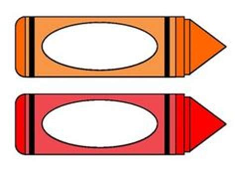 Free Printable Crayon Shaped Name Tags The Template Can Also Be Used For Creating Items Like Crayon Label Template