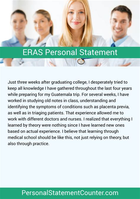 Eras Personal Statement by Eras Personal Statement Length