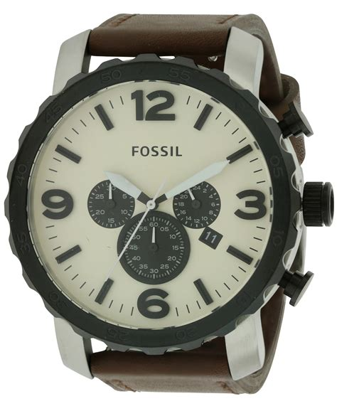 Fossil Nate Chronograph Luggage Leather Set Jr1524 fossil nate leather chronograph mens jr1390 ebay