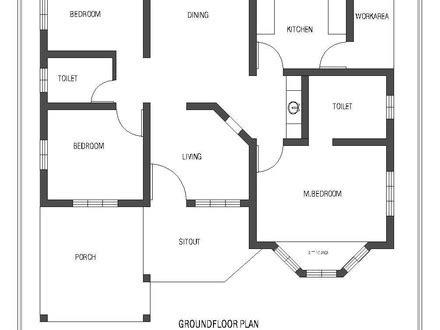 kerala house single floor plans with elevations single floor house plan and elevation 1320 sq ft kerala