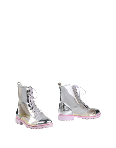 webster boots webster ankle boots in metallic lyst