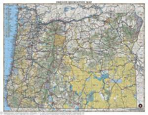 detailed map of oregon oregon recreation map benchmark mapscompany