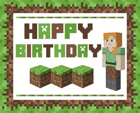 how to make a minecraft birthday card minecraft birthday card gangcraft net