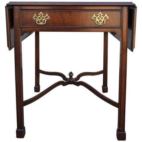 pair of kindel pembroke mahogany side tables at 1stdibs
