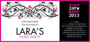 Bridal Shower Tea Party Invitations Hens Night Invitations Vintage Scroll