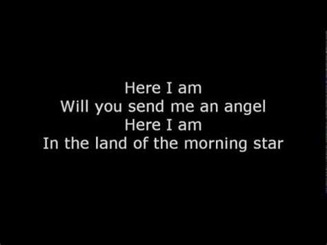 nova space send me and angel scorpions send me an angel lyrics youtube