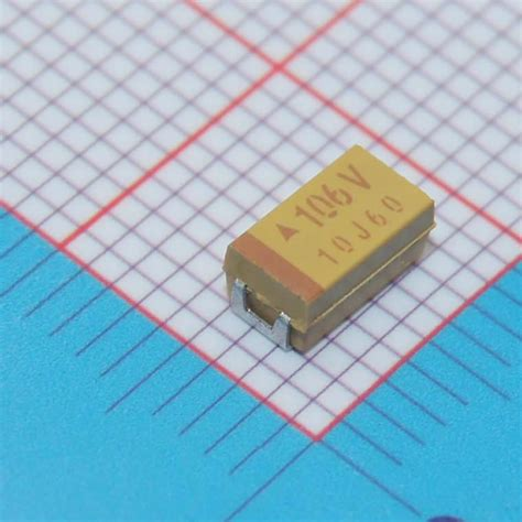 capacitor smd tem lado free shipping 20pcs c 6032 10uf 35v smd tantalum capacitor in capacitors from electronic