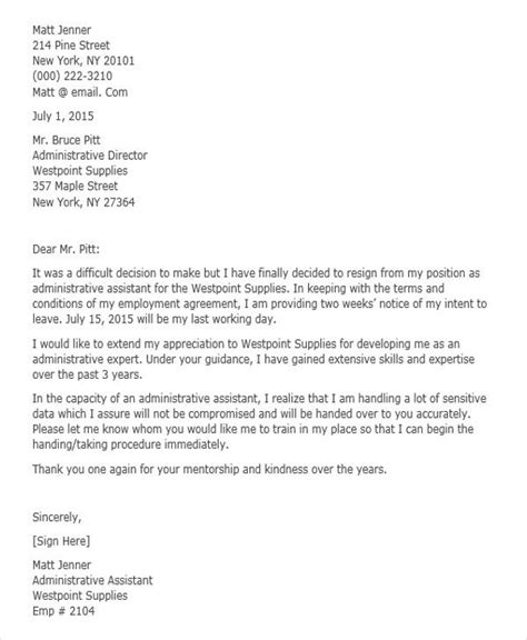 corporate resignation letter templates word