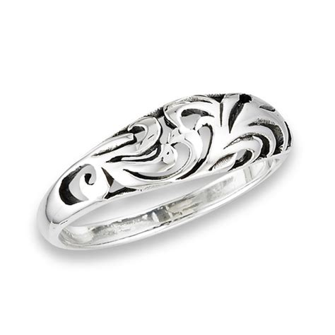 sterling silver dome swirl ring