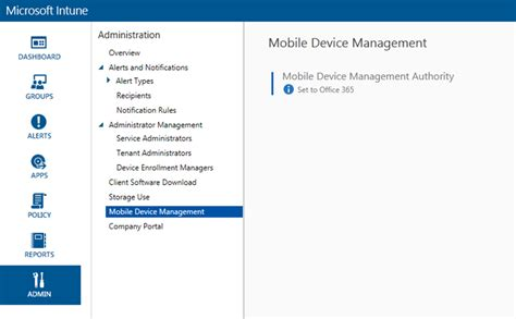 Office 365 Intune Portal Hey My Mdm Authority Is Set To Office 365 In Microsoft