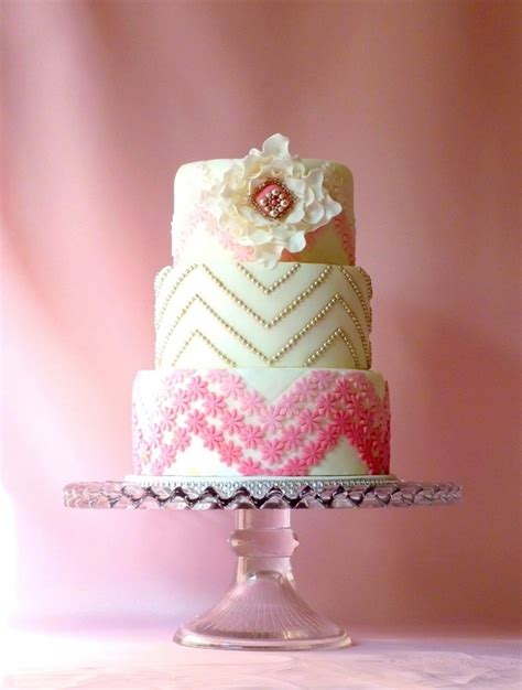 wedding cake of the day pink ombr flower wedding cake white tiered fondant with ruffled flower and pink ombre