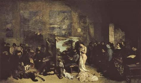 courbet biography artist the artist s studio a real allegory of a seven year long