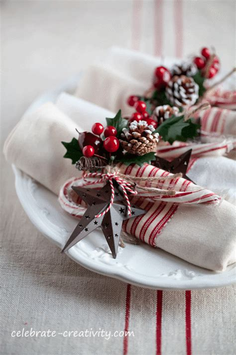 turn plain napkins into fun and festive table wear for