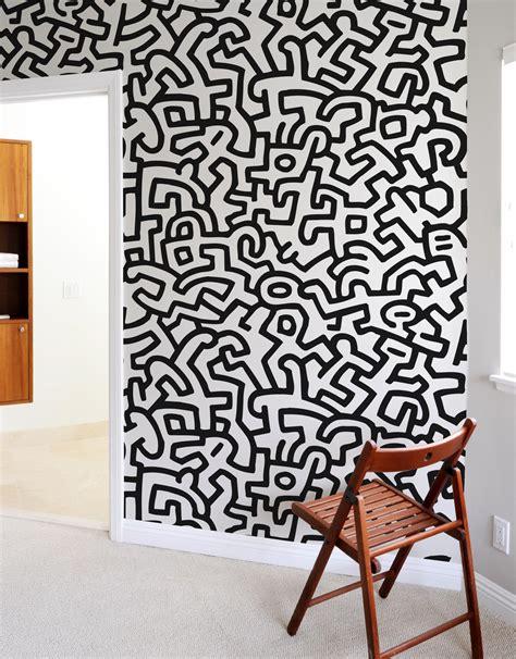 Zebra Wall Mural keith haring adhesive wall tiles stick on wall tiles blik