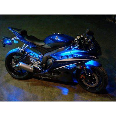 eclairage led moto kit led moto telecommande stage 2 eclairage bleu