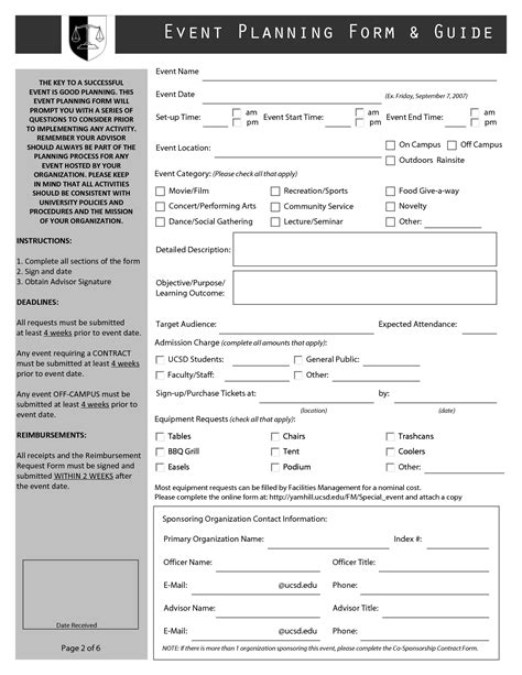 event form template best photos of free event planner forms printable event