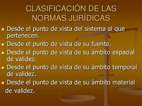 clasificacion de normas juridica