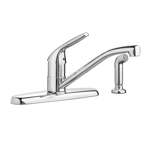 american standard colony choice single handle standard kitchen faucet  side sprayer