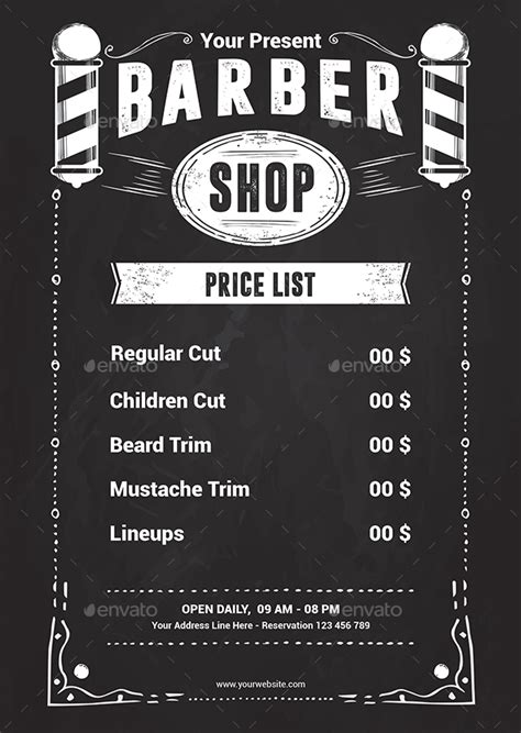 barber shop price list template barber shop flyer template by yudha sbs graphicriver