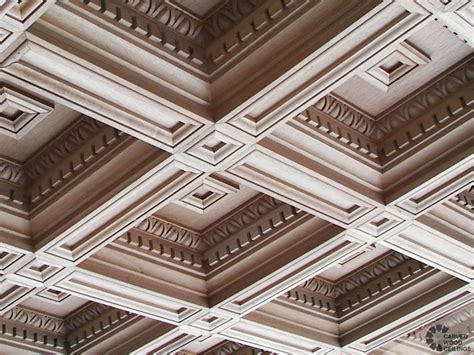 Italian Ceiling Luxury Renaissance Style Carved Ceilings For Mansions In