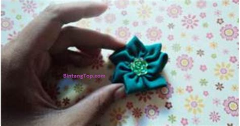 Pita Plong 1 Sisi Lebar 2 5 Cm 1 1 kanzashi viola bikin sendiri bunga mungil dari kain perca bintangtop dunia ide dan