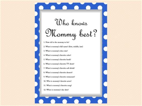 Who Knows Best Baby Shower Questions by Free Baby Shower Who Knows Best Baby Shower
