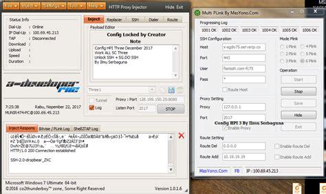 bug kartu three config http injector pc three januari terbaru