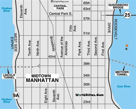 manhattan city map new york city map and information page