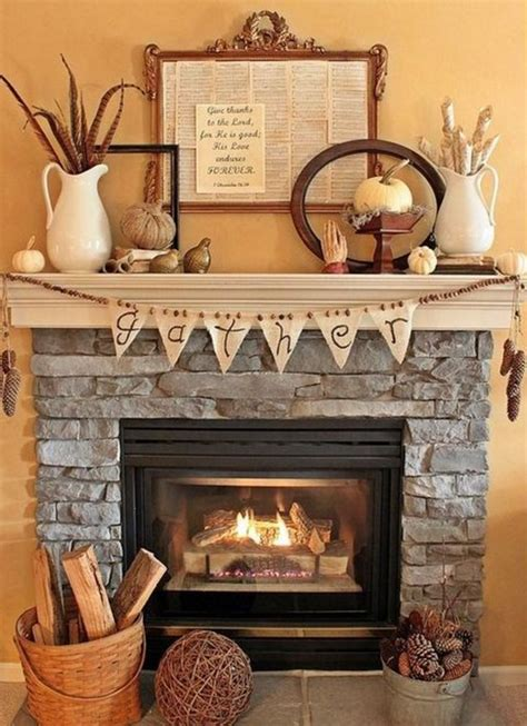 fireplace home decor 15 fall decor ideas for your fireplace mantle